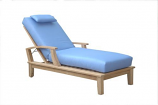 Brianna Sun Lounger with Arm By Anderson Teak