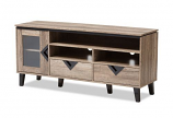 Cardiff Modern and Contemporary Light Brown Wood 55-Inch TV Stand