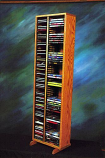 Solid Oak Tower for CD's and DVD's Model 211-4 CD/DVD