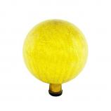 "Gazing Globe 10"" Lemon Drop Crackle"