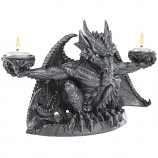 Judging the Darkness Dragon Candleholder