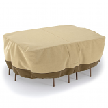 Dura Covers LRFP5513 Fade Proof Oval or Rectangular Patio Table and Chair Cover