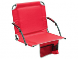 Shelter Logic 10121-409-1 Bleacher Boss Stadium Chair with Arms - Red