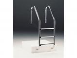 "Fluidra 7643 24"" 3-Step Astralpool Ladder with Plastic Step"