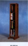 Solid Oak 4 Row Dowel DVD Cabinet Tower Model 415