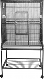 A&E Cage 13221 BLACK 32x21x63in Flight Bird Cage With Stand