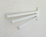 Wall Mount Towel Rack with 3 Bars, White
