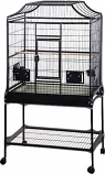A&E Cage MA3221FL BLACK 32x21x61in Elegant Style Flight Bird Cage With Stand