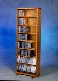Solid Oak Dowel Cabinet for CD's Model 806-18