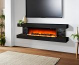 Evolution Fires 72'' Vegas Electric Fireplace - Black Stone Panel