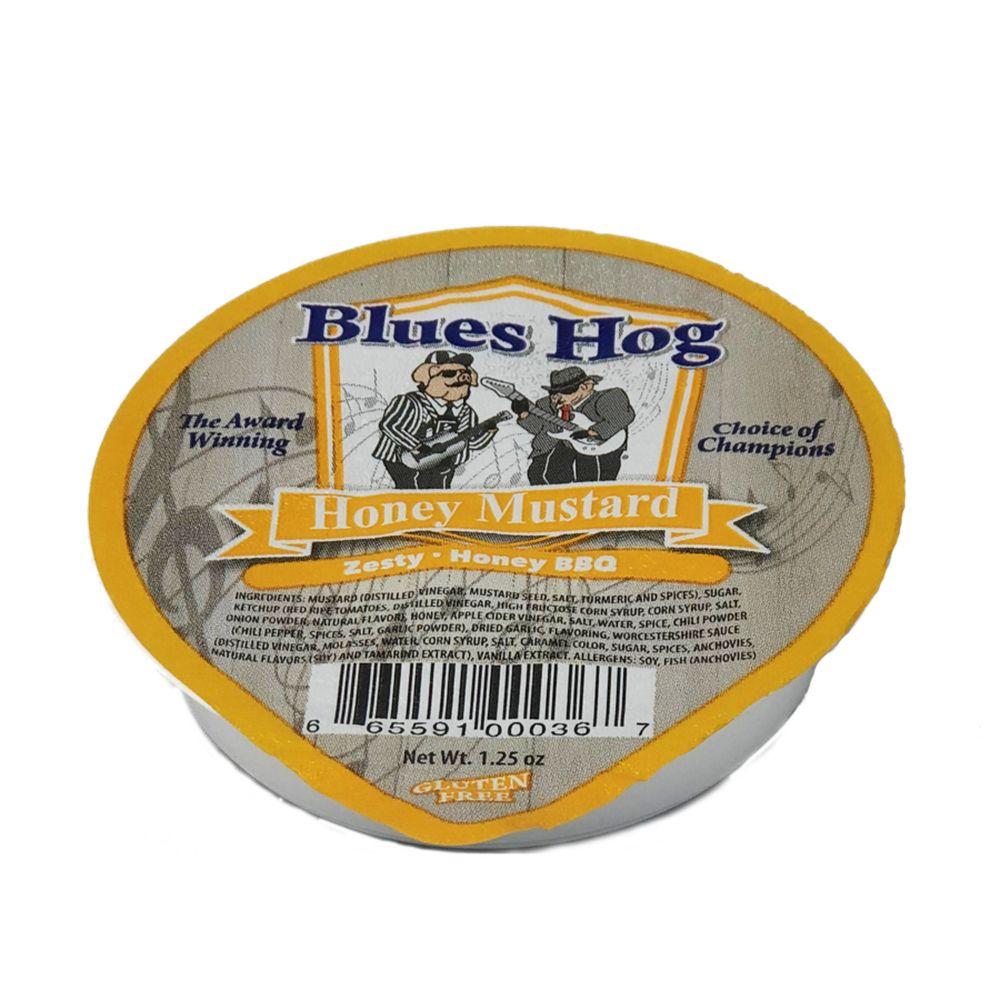 Blues Hog 1.25 oz Honey Mustard Sauce Foil Dipping Cup