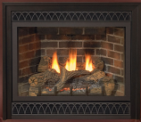 32-Inch DV Gas Fireplace in Cherry Mantel, IP Control, NG