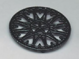 7 1/2'' Shiny Black Enamel Trivet