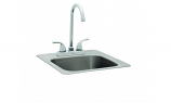 Bull Outdoor Sink with Faucet - Standard - Stainless Steel