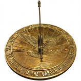 Rome Brass Peace Dove Sundial - Solid Brass w/Patina