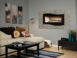 """Empire Boulevard 60"""" Contemporary Linear Vent-Free Fireplace - NG"""