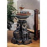 Ramses II Egyptian Sculptural Glass Topped Table