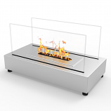 Regal Flame ET7010SS Avon Tabletop Bio Ethanol Fireplace in Stainless Steel