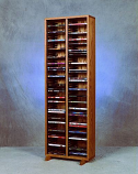 Solid Oak Tower for DVD's Model 210-4 DVD