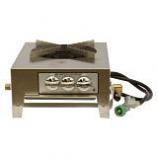 3 Ring Dual Burner Stainless Steel Utility Stove - Natural Gas