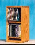 Solid Oak Dowel Cabinet for CD's Model 206