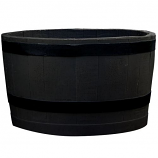 RTS Black Sanded Planter Barrel