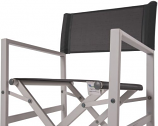 Vivere STUC-DG Studio Aluminum Folding Director's Chair - Dark Grey