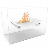 Regal Flame EF6007W Bow Ventless Free Standing Ethanol Fireplace in White