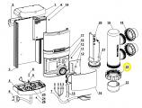 Waterco 63406551BLK 65mm Union Half Nut - Black