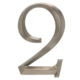 Classic 6 Inch Number  2  Polished Nickel