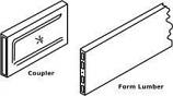 Stegmeier MS009 3in Slip-N-Join Lumber Coupler