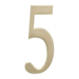 """4.75"""" Number 5 Satin Brass By Whitehall Products"""