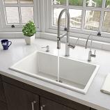 "ALFI AB3018UD-W 30"" White Undermount / Drop In Fireclay Kitchen Sink"