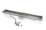"Flex Line ML 24"" Linear Trough Pan Fire Pit Insert - LP"