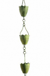 Verdigris Flower Cup Rain Chain -4.25