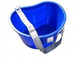 Cherry harvest kidney bucket with strap