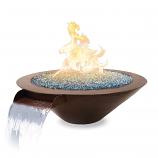 """31""""x10"""" Bella Fire/Water Bowl Man Lite-NG 60lb Glass"""