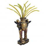 Egyptian Urn Carrier Maidens Sculptural Vase