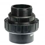 Waterco 122251BLK Barrel Union 50mm Threaded - Black