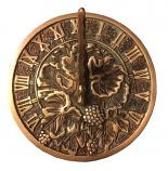 Rome Brass Grapevine Sundial - Solid Brass w/Verdigris Highlights