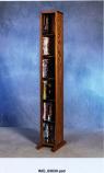 Solid Oak 6 Row Dowel DVD Cabinet Tower Model 615