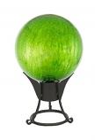"""12"""" Gazing Globe, Fern Green, Crackle"""
