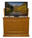 "Elevate Anyroom Lift Cabinet for 42"" Flat Screen TV - Honey Oak"