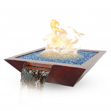 "29""x29""x9"" Cabana Fire/Water Bowl Man Lite-NG 70lb Glass"