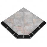 "Night Shadows Tile Stove Board, Single Cut Corner, 40"" x 40"""