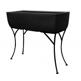 """RTS Elevated Planter w/ Stand Black - 36"""" X 15"""""""