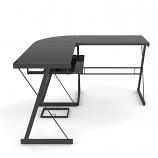 Ryan Rove RR1048 Madison 3-Piece L-Shaped Computer Desk in Black