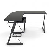 Ryan Rove RR1048 Madison 3-Piece L-Shaped Computer Desk in Black