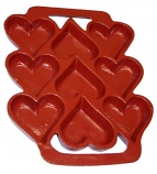 John Wright 73301R Heart Cookie Pan in Red Xylan