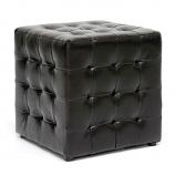 Set of 2 Siskal Dark Brown Modern Cube Ottoman